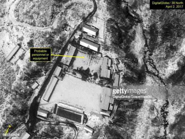 KOREA APRIL 2 2017 Figure 3 Probable personnel in formation or equipment in rows at the Main Administrative Area