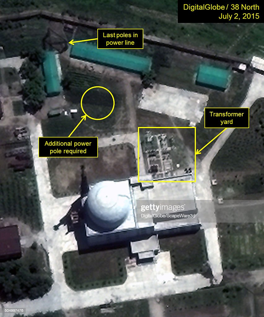Figure 3 Slow Progress at the Experimental Light Water Reactor at Yongbyon Nuclear Scientific Research Center The ELWRs transformer yard and power...
