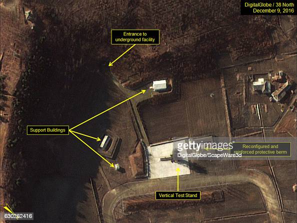 Figure 3 The protective berm at the vertical test stand is complete allowing for larger missile tests Date December 9 2016 Mandatory credit for all...