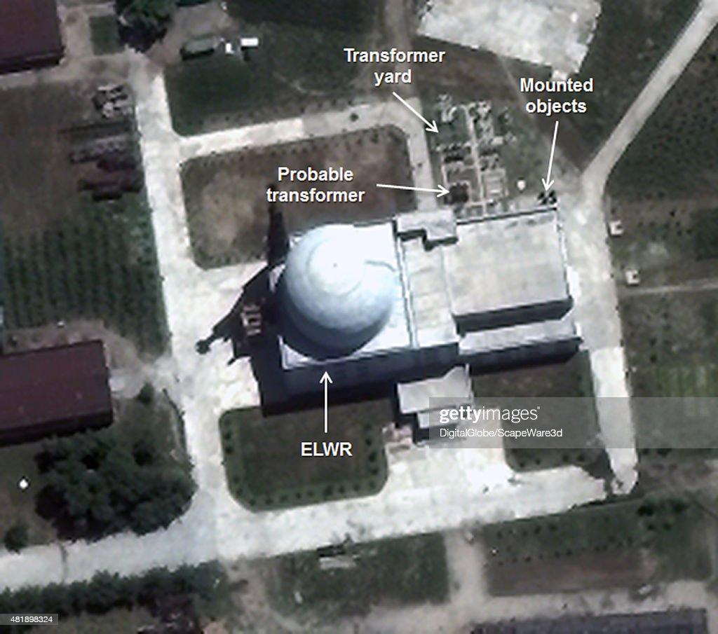 Figure 3 Transformer Yard at the ELWR Date July 2 2015 Yongbyon Nuclear Scientific Research Center Mandatory credit Image © 2015 DigitalGlobe Inc/38...