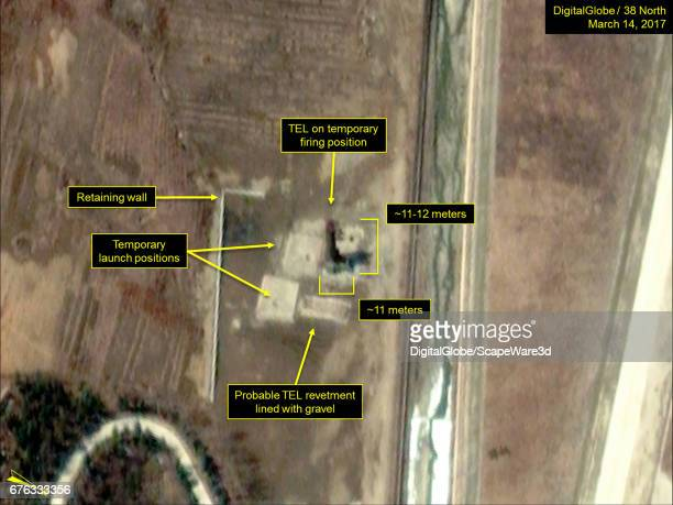Figure 4 Closeup of TEL with launch tube elevated at the Ihari facility Date March 14 2017 Mandatory credit for all images DigitalGlobe/38 North via...