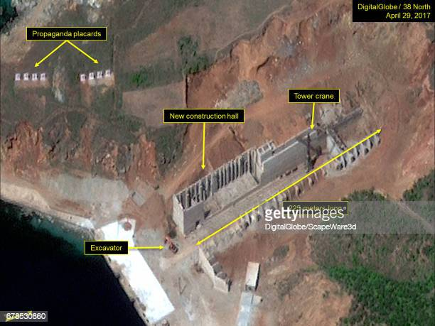 Figure 4 Construction of a new construction hall continues Mandatory credit for all images DigitalGlobe/38 North via Getty Images