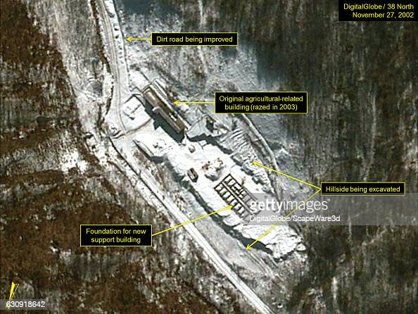 Figure 4 DigitalGlobe imagery of the support area at Pumyongdong on November 27 2002 Mandatory credit for all images DigitalGlobe/38 North via Getty...