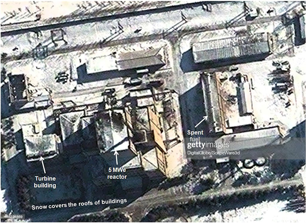 Figure 4 is DigitalGlobe Imagery from February 9 2014 and shows snow on the roofs of buildings associated with the 5 MWe reactor at Yongbyon 38 North...