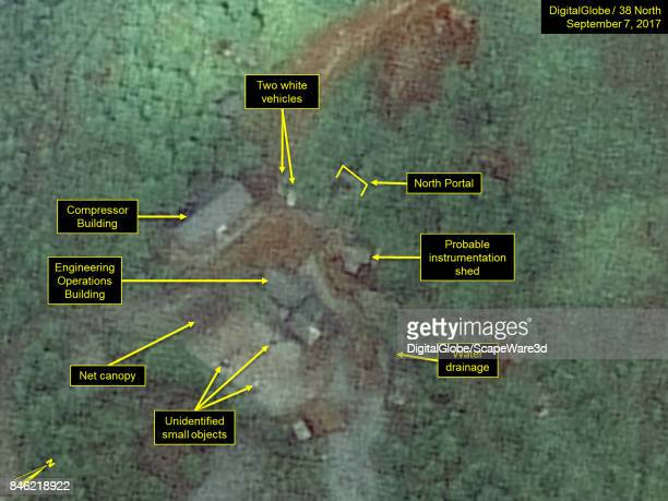 KOREA SEPTEMBER 7 2017 Figure 4 White vehicles identified near the North Portal on September 7 under a net canopy