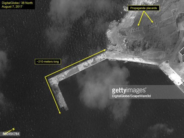 Figure 5 Construction of Lshaped pier continues at a slow pace Mandatory credit for all images DigitalGlobe/38 North via Getty Images