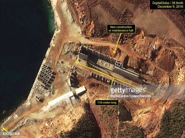 Figure 5 Work has slowed on building a new construction hall Date December 9 2016 Mandatory credit for all images DigitalGlobe/38 North via Getty...