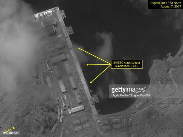 Figure 9 SANGOclass submarines berthed at the northeast pier of the Mayangdo Submarine Base Mandatory credit for all images DigitalGlobe/38 North via...