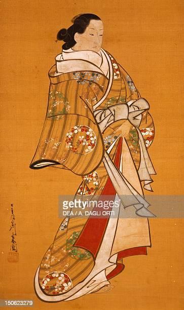 Figure of a woman kakemono by Miyagawa Choshun Japan Japanese Civilisation 18th century