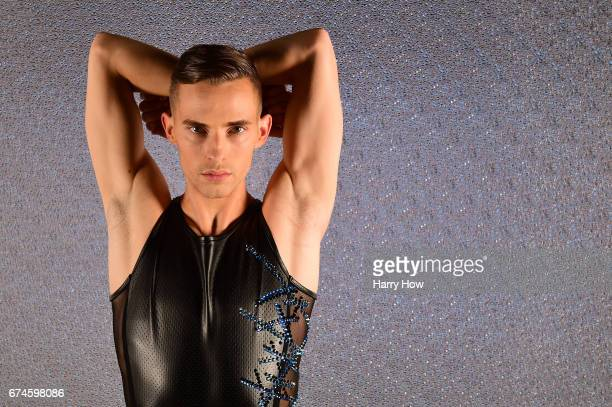 Figure skater Adam Rippon poses for a portrait during the Team USA PyeongChang 2018 Winter Olympics portraits on April 28 2017 in West Hollywood...