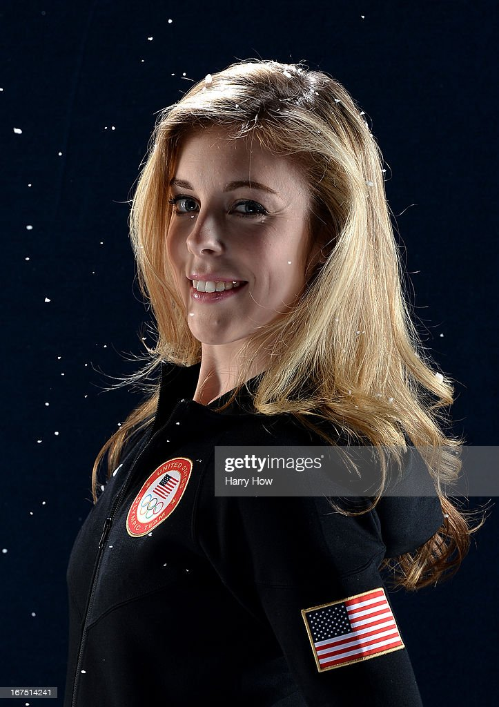 Figure skater Ashley Wagner poses for a portrait during the USOC Portrait Shoot on April 25, 2013 in West Hollywood, California.