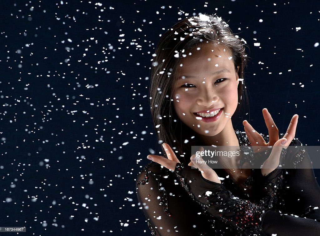 Figure skater <a gi-track='captionPersonalityLinkClicked' href=/galleries/search?phrase=Christina+Gao&family=editorial&specificpeople=6719493 ng-click='$event.stopPropagation()'>Christina Gao</a> poses for a portrait during the USOC Portrait Shoot on April 24, 2013 in West Hollywood, California.