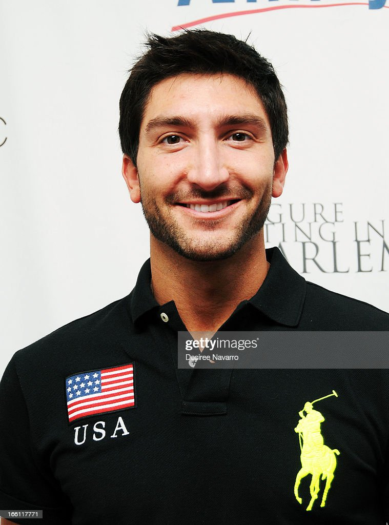 Figure skater <a gi-track='captionPersonalityLinkClicked' href=/galleries/search?phrase=Evan+Lysacek&family=editorial&specificpeople=243028 ng-click='$event.stopPropagation()'>Evan Lysacek</a> attends the 2013 Skating With The Stars Benefit Gala at Trump Rink at Central Park on April 8, 2013 in New York City.
