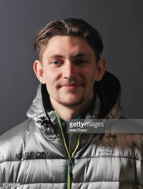 Figure skater Harley Windsor poses for a portrait vduring the Australia Winter Olympic Athlete Announcement at Museum of Contemporary Art on November...