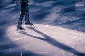 Figure skater in the spot light