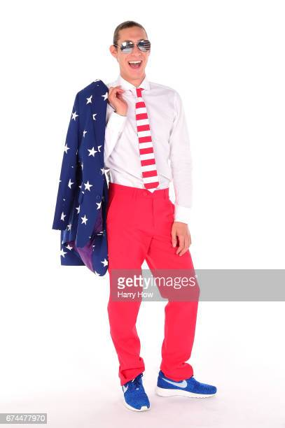 Figure skater Jason Brown poses for a portrait during the Team USA PyeongChang 2018 Winter Olympics portraits on April 28 2017 in West Hollywood...