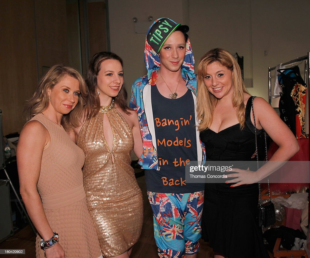 Figure skater Johnny Weir and guests attend Tumbler and Tipsy by Michael Kuluva presented by AIDS Healthcare Foundation at the STYLE360 Fashion...