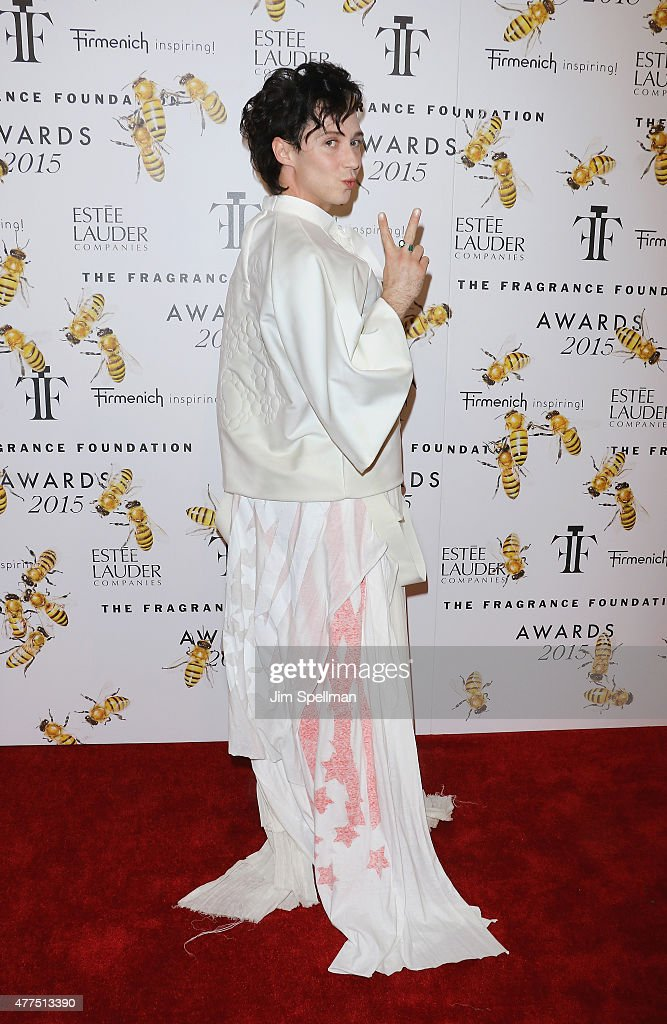 Figure skater Johnny Weir attends the 2015 Fragrance Foundation Awards at Alice Tully Hall at Lincoln Center on June 17 2015 in New York City