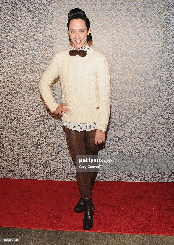 Figure skater Johnny Weir attends the Alice + Olivia By Stacey Bendet presentation during Fall 2013 Mercedes-Benz Fashion Week on February 11, 2013 in New York City.