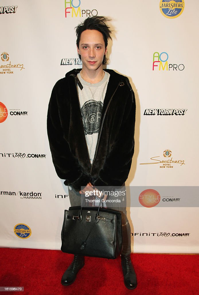 Figure skater Johnny Weir attends the Tumbler And Tipsy By Michael Kuluva Fashion Show At CONAIR STYLE360 at STYLE360 presented by Conair Fashion Pavilion on February 12, 2013 in New York City.