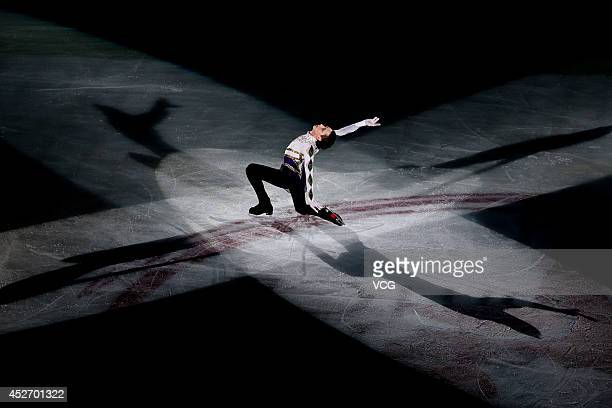 Figure Skater Johnny Weir performs during Artistry On Ice 2014 at MasterCard Center on July 25 2014 in Beijing China