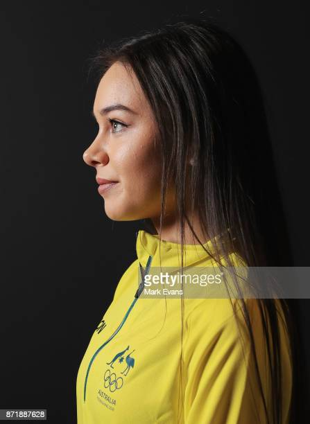 Figure skater Kailani Craine poses for a portrait during the Australia Winter Olympic Athlete Announcement at Museum of Contemporary Art on November...