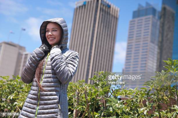 Figure skater Kailani Craine poses for photographs during the Australia Winter Olympic Athlete Announcement at Museum of Contemporary Art on November...