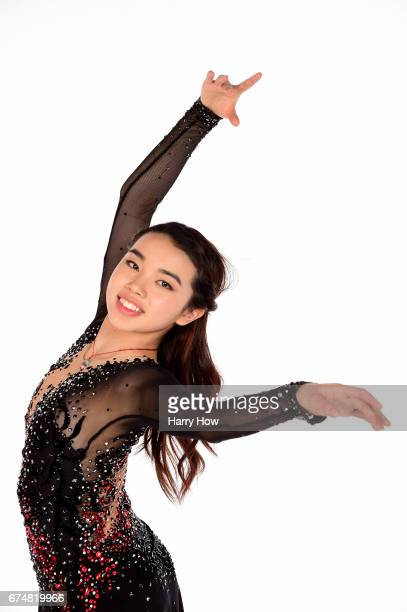 Figure skater Karen Chen poses for a portrait during the Team USA PyeongChang 2018 Winter Olympics portraits on April 28 2017 in West Hollywood...