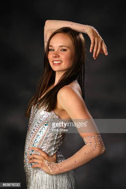 Figure skater Mariah Bell poses for a portrait during the Team USA Media Summit ahead of the PyeongChang 2018 Olympic Winter Games on September 25...