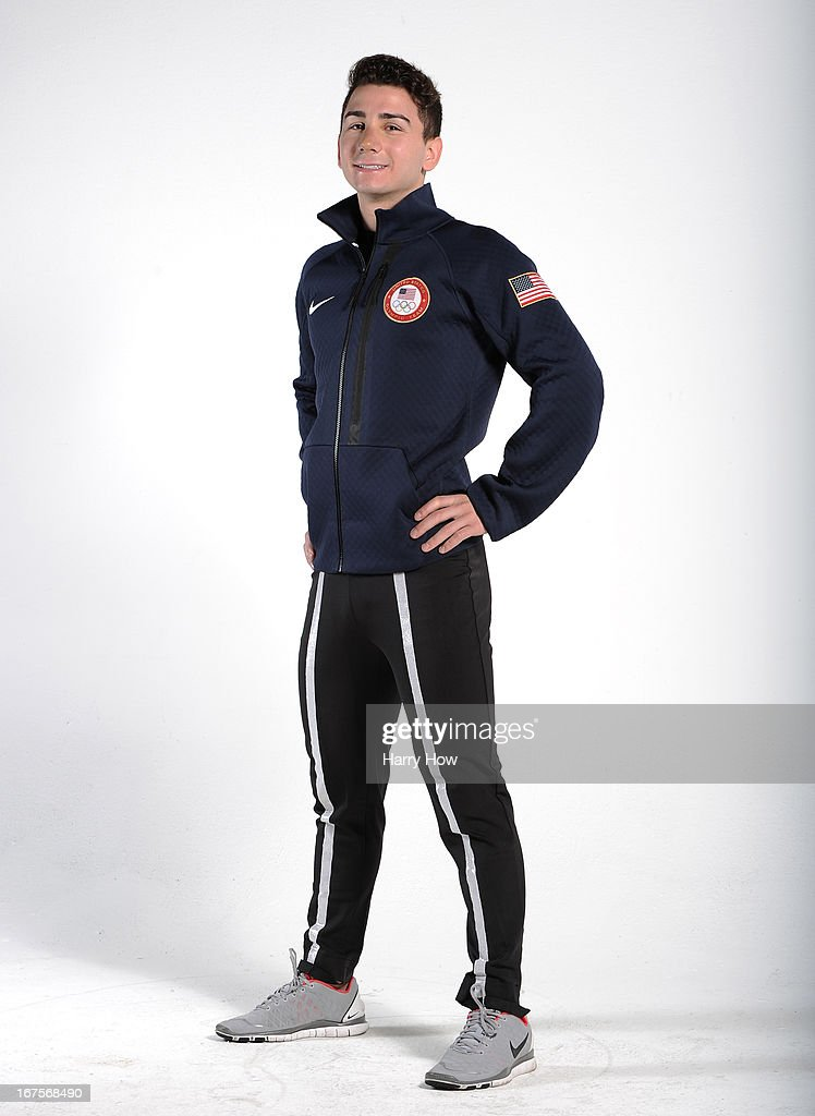 Figure skater Max Aaron poses for a portrait during the USOC Portrait Shoot on April 26, 2013 in West Hollywood, California.