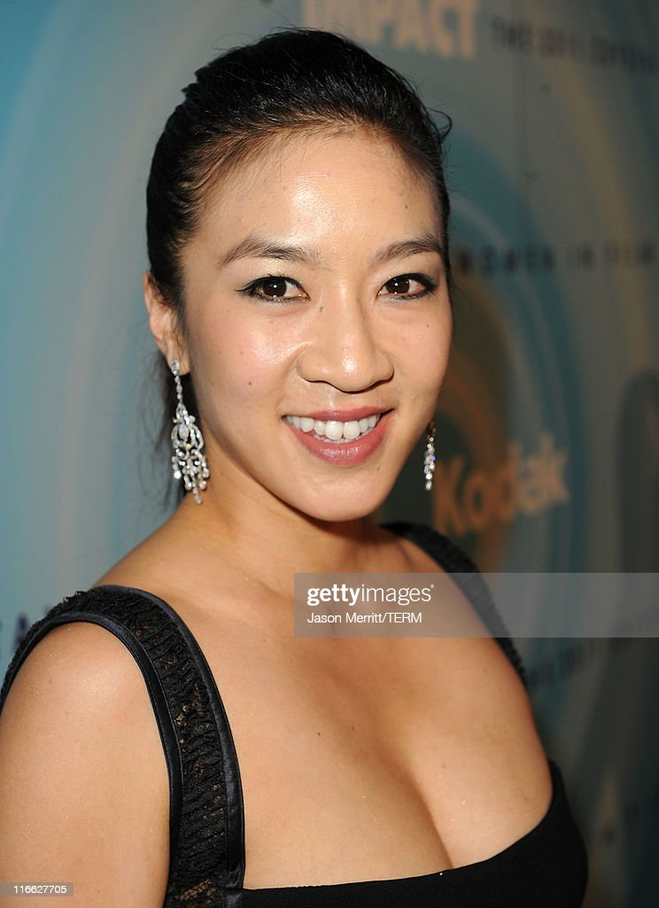 Figure skater Michelle Kwan arrives at the 2011 Women In Film Crystal + Lucy Awards with presenting sponsor PANDORA jewelry at the Beverly Hilton Hotel on June 16, 2011 in Beverly Hills, California.