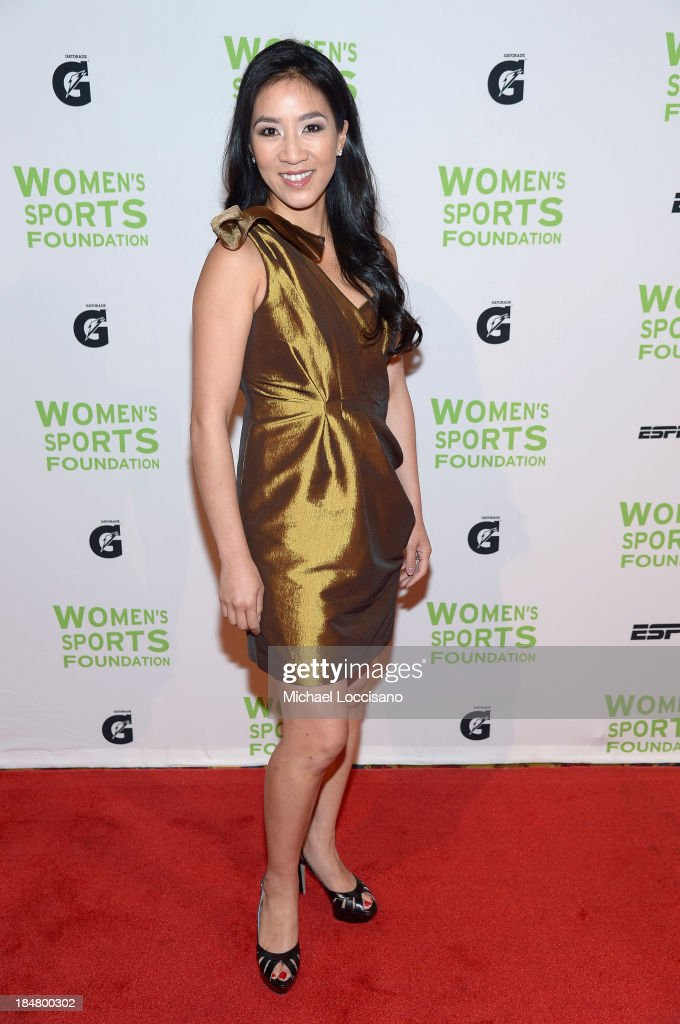 Figure skater <a gi-track='captionPersonalityLinkClicked' href=/galleries/search?phrase=Michelle+Kwan&family=editorial&specificpeople=201485 ng-click='$event.stopPropagation()'>Michelle Kwan</a> attends the 34th annual Salute to Women In Sports Awards at Cipriani, Wall Street on October 16, 2013 in New York City.