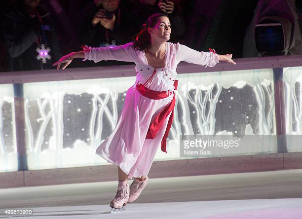 Figure skater Nancy Kerrigan performs during the 2015 Bryant Park Christmas tree lighting at Bryant Park on December 1 2015 in New York City