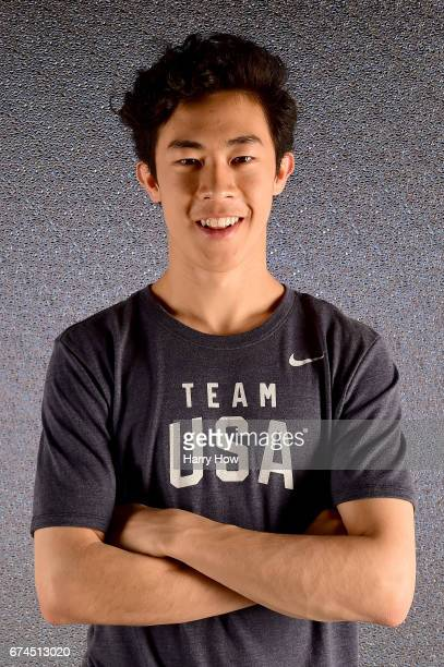 Figure skater Nathan Chen poses for a portrait during the Team USA PyeongChang 2018 Winter Olympics portraits on April 28 2017 in West Hollywood...