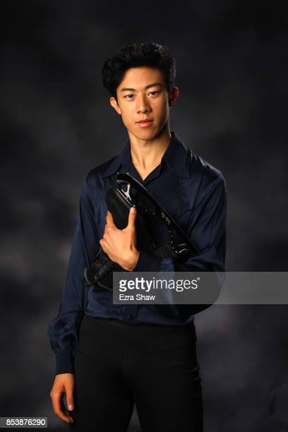 Figure Skater Nathan Chen poses for a portrait during the Team USA Media Summit ahead of the PyeongChang 2018 Olympic Winter Games on September 25...