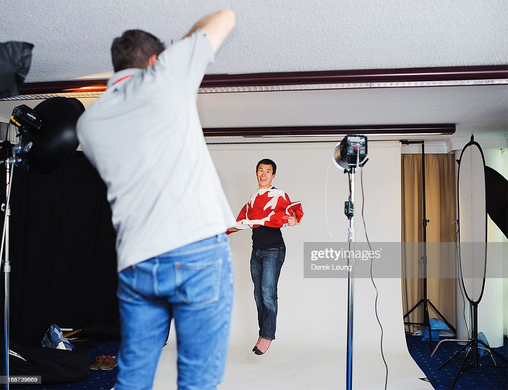 Figure skater Patrick Chan poses for a portrait during the Canadian Olympic Committee Portrait Shoot on May 13, 2013 in Vancouver, British Columbia, Canada.