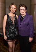 Figure Skater Sarah Hughes and Billie Jean King attend the Women's Sports Foundation's 35th Annual Salute to Women In Sports awards a celebration and...