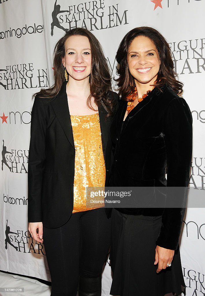 Figure skater Sarah Hughes and Soledad O'Brien attend the 2012 Skating with the Stars gala at the Wollman Rink - Central Park on April 2, 2012 in New York City.