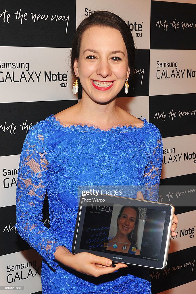 Figure skater Sarah Hughes attends Samsung Galaxy Note 10.1 Launch Event at Jazz at Lincoln Center on August 15, 2012 in New York City.