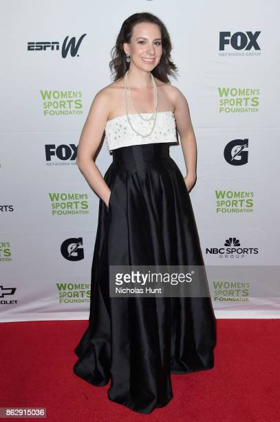 Figure skater Sarah Hughes attends The Women's Sports Foundation's 38th Annual Salute To Women in Sports Awards Gala on October 18 2017 in New York...