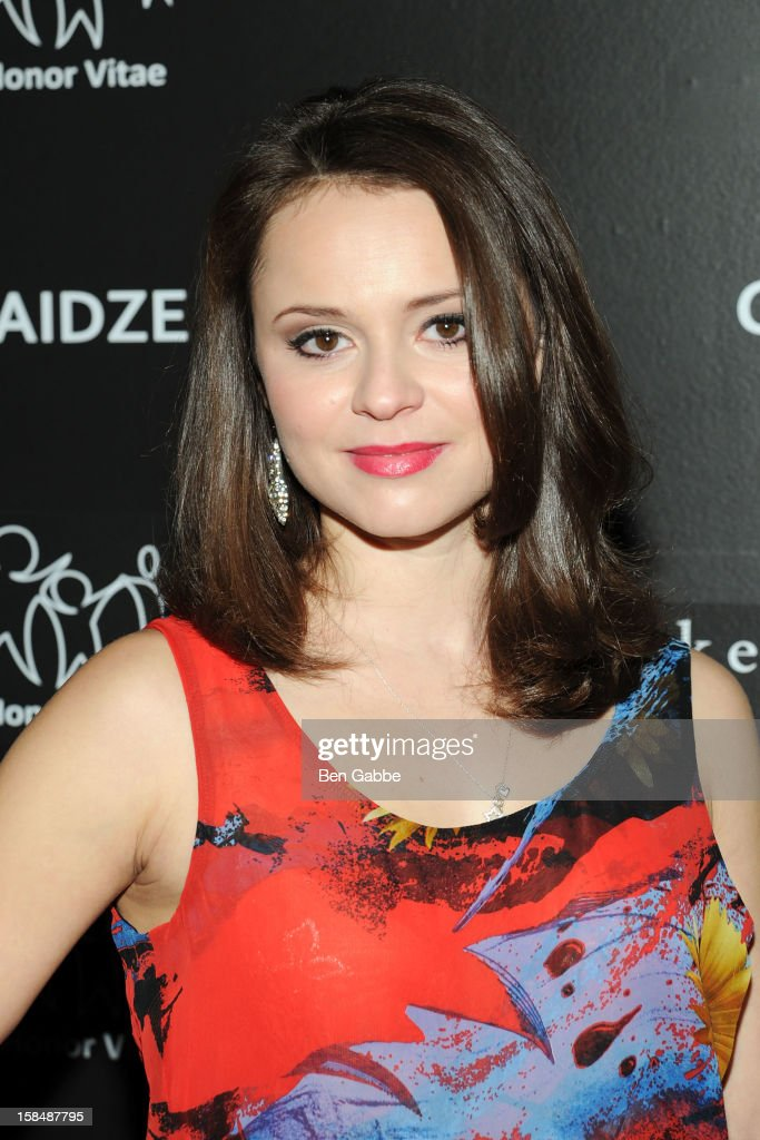 Figure skater <a gi-track='captionPersonalityLinkClicked' href=/galleries/search?phrase=Sasha+Cohen+-+Figure+Skater&family=editorial&specificpeople=171109 ng-click='$event.stopPropagation()'>Sasha Cohen</a> attends Charity Meets Fashion Holiday Celebration Honoring The World's Children at Affirmation Arts on December 17, 2012 in New York City.