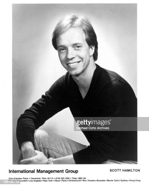 Figure skater Scott Hamilton poses for a portrait in circa 1983