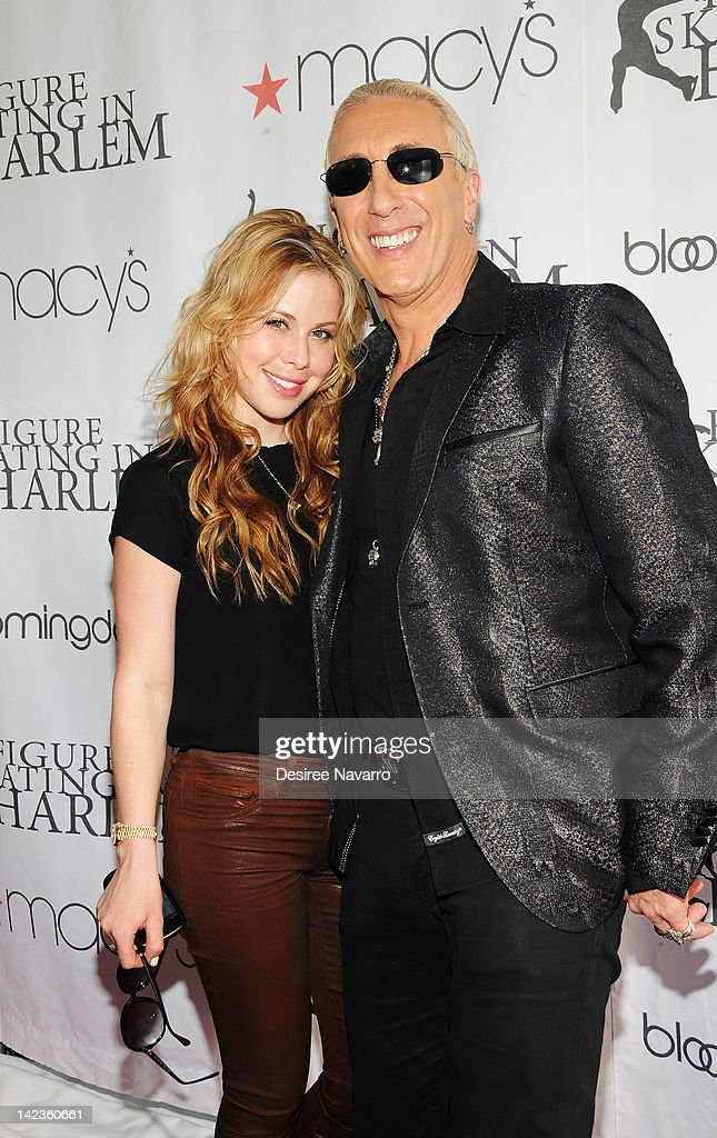 Figure Skater Tara Lipinski (L) and singer Dee Snider attend the 2012 Skating with the Stars gala at Wollman Rink - Central Park on April 2, 2012 in New York City.