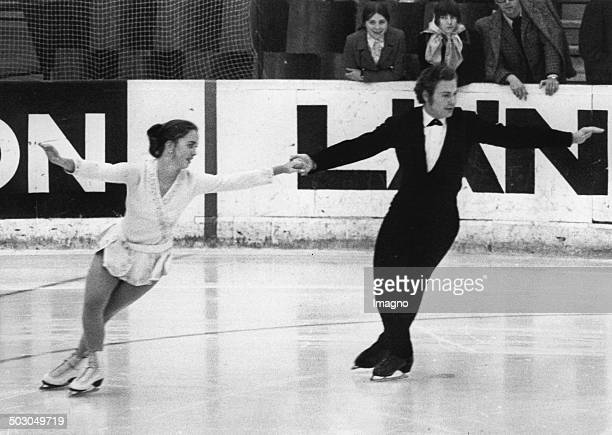 Figure skaters Agnes Arco and Adrian Perco About 1970 Photograph