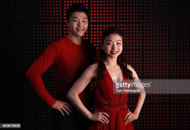Figure Skaters Alex Shibutani and Maia Shibutani pose for a portrait during the Team USA Media Summit ahead of the PyeongChang 2018 Olympic Winter...