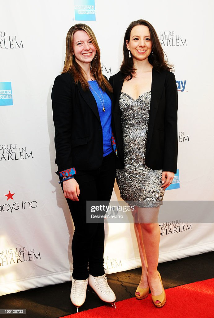 Figure skaters and sisters Emily Hughes and Sarah Hughes attend the 2013 Skating With The Stars Benefit Gala at Trump Rink at Central Park on April 8, 2013 in New York City.