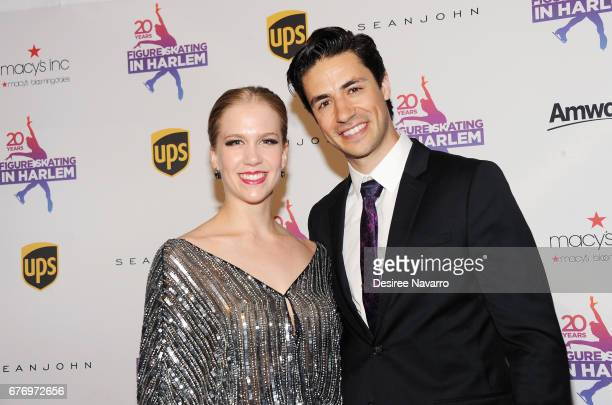 Figure skaters Kaitlyn Weaver and Andrew Poje attend Figure Skating In Harlem 20th Anniversary Champions In Life Benefit Gala at 583 Park Avenue on...