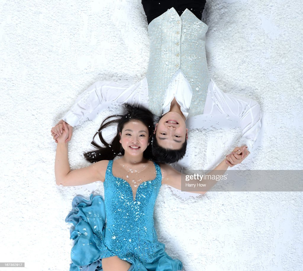 Figure skaters Maia and Alex Shibutani pose for a portrait during the USOC Portrait Shoot on April 24, 2013 in West Hollywood, California.