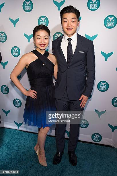 Figure skaters Maia Shibutani and Alex Shibutani attend the 2015 Shorty Awards at TheTimesCenter on April 20 2015 in New York City