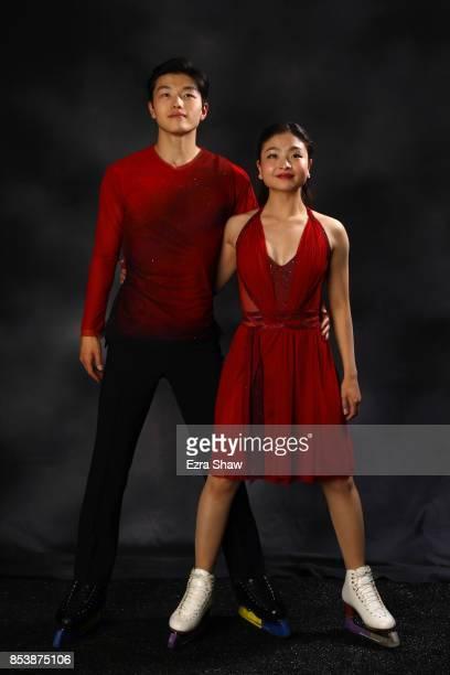 Figure Skaters Maia Shibutani and Alex Shibutani pose for a portrait during the Team USA Media Summit ahead of the PyeongChang 2018 Olympic Winter...